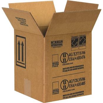 """W.B. Mason Co. Paint Can boxes, 1 - 1 Gallon, 8 1/2"""" x 8 1/2"""" x 9 5/16"""", Kraft, 25/BD"""