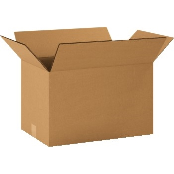 """Brown Corrugated Heavy Duty boxes, Double Wall, 20""""l x 12""""w x 12""""h, 15/BD"""