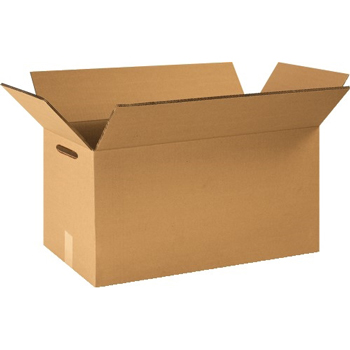 """W.B. Mason Co. Double Wall boxes with Hand Holes, 24"""" x 12"""" x 12"""", Kraft, 15/BD"""