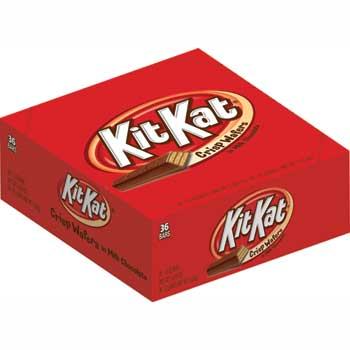 Kit Kat® Standard Size Candy Bar, 1.5 Ounces, 36/BX