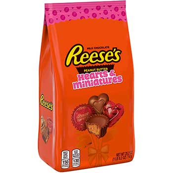 Peanut Butter Cups and Hearts, Valentine's Day Assortment, 25 oz. Bag