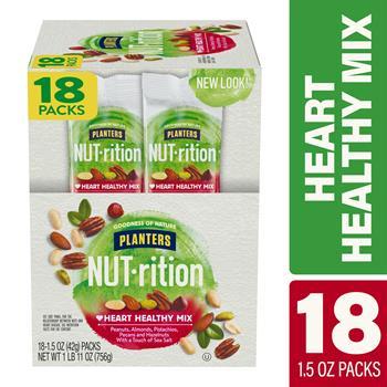 Planters® Nut-Rition Heart Healthy Mix, 1.5 oz., 18/PK