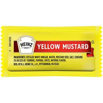 Mustard Single-Serve Packs, 5.6 g., 500/CT