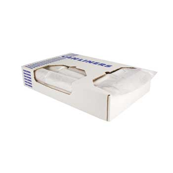 "High-Density Coreless Roll Can Liners, 7 Gallon, 20"" x 22"", 6 Mic., Natural, 2,000/CT"