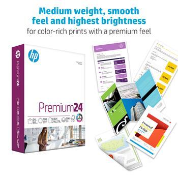 """HP Papers Premium 24lb Copy Paper, 8.5"""" x 11"""", 100 Bright, 10 Reams, 5,000 Sheets"""