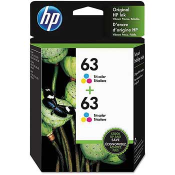 63 Ink Cartridges - Tri-color, 2 Cartridges (1VV67AN)