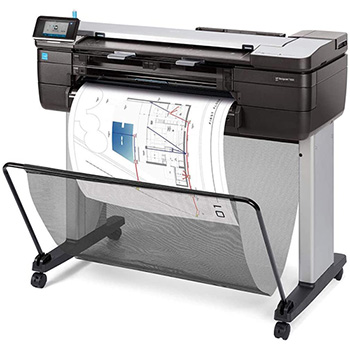 HP DesignJet T830 24-in Multifunction Printer, Copy/Print/Scan