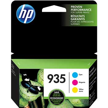 935 Ink Cartridges - Cyan, Magenta, Yellow, 3 Cartridges (N9H65FN)