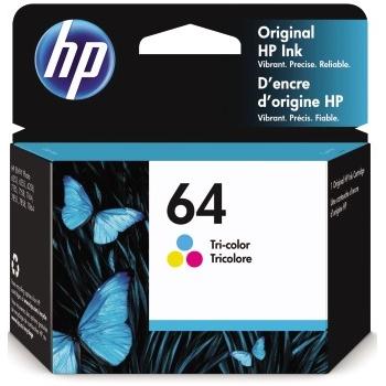 64 Ink Cartridge, Tri-color (N9J89AN)