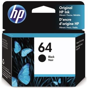64 Ink Cartridge, Black (N9J90AN)