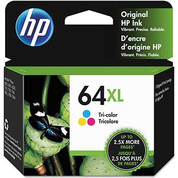 64XL Ink Cartridge, Tri-color (N9J91AN)