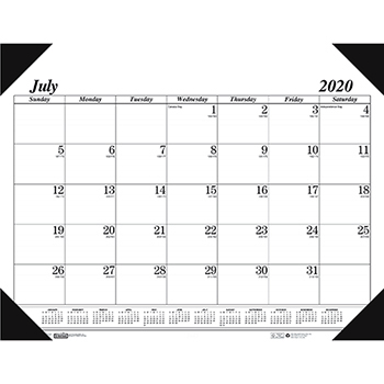 House of Doolittle™ Recycled Economy 14-Month Academic Desk Pad Calendar, 22 x 17, 2020-2021