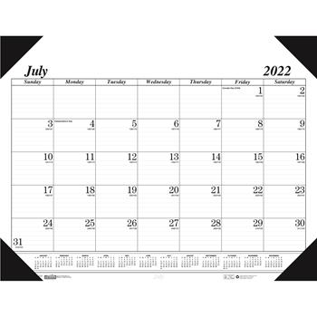 House of Doolittle™ Recycled Economy 14-Month Academic Desk Pad Calendar, 22 x 17, 2021-2022