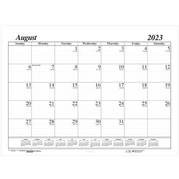 House of Doolittle™ Economy 17-Month Academic Desk Pad Calendar, 22 x 17, August 2021 - December 2022