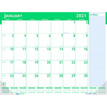 "House of Doolittle™ Express Track Monthly Desk Pad Calendar, 22"" x 17"", 2021"