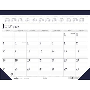 House of Doolittle™ Recycled Compact Academic Desk Pad Calendar, 18-1/2 x 13, 2021-2022