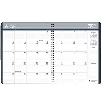 House of Doolittle™ Recycled Ruled Monthly Planner, 14-Month Dec.-Jan., 6 7/8x8.75, Black, 2019-2021