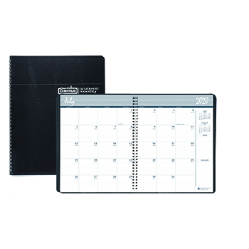 House of Doolittle™ Academic Ruled Monthly Planner, 14-Mo. July-August, 8 1/2 x 11, Black, 2020-2021
