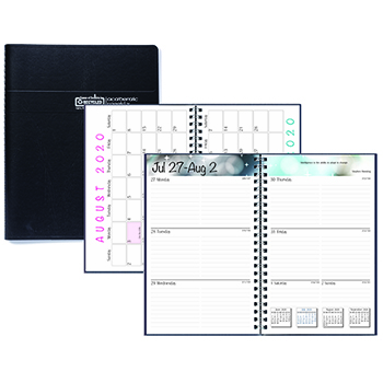 House of Doolittle™ Academic Weekly/Monthly Appointment Book/Planner, 5 x 8, Black, 2020-2021