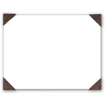 House of Doolittle™ 100% Recycled Doodle Desk Pad, Unruled, 25 Sheets, 18 1/2 x 13, White/Brown