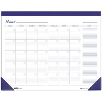House of Doolittle™ Nondated Desk Pad Calendar, 22 x 17, Blue