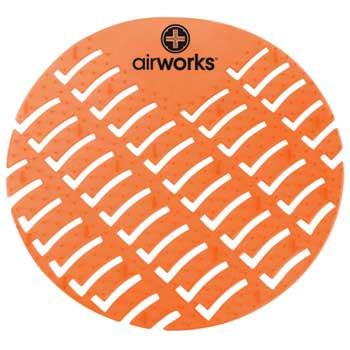 HOSPECO® Airworks® Urinal Screen, Orange, Mango, 10/BX