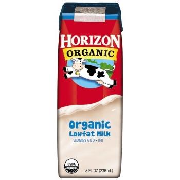 Horizon® Organic Original Lowfat Milk, 8 oz. Cartons, 18/CS