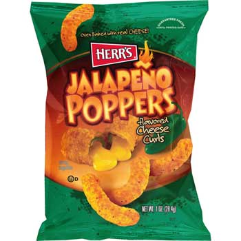 Herr's® Jalapeño Poppers Cheese Curls, 1 oz., 42/CS