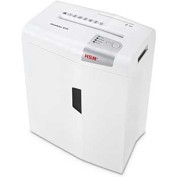 HSM of America shredstar X10 Cross-Cut Shredder, Shreds up to 10 Sheets, 5.3-Gallon Capacity, White