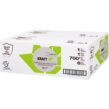 Hardwound Roll, Papernet Kraft, 700'x0.8'', Recycled 1 Ply, 6 Rolls/CS