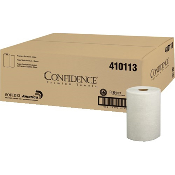Hardwound Roll, Papernet Heavently Soft, 700'x0.8'', Virgin White 1 Ply, 6 Rolls/CS
