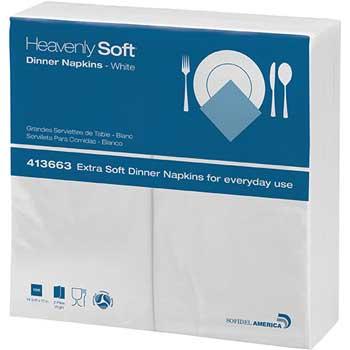 Dinner Napkins, 2-Ply, 15 x 17, White, 150/Pack, 20 Packs/Carton