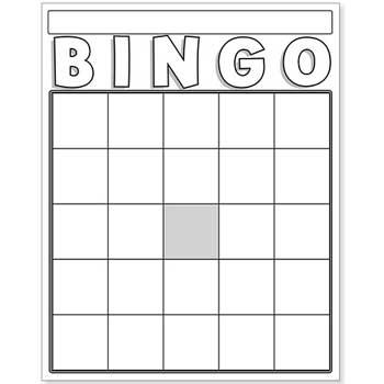 Hygloss Blank Bingo Cards, White, 36/PK