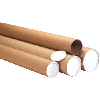 "W.B. Mason Co. Heavy-Duty Mailing Tubes 3"" x 36"", Kraft, 24/CS"