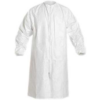 DuPont® Tyvek IsoClean Protective Frock, Elastic Wrist, Medium, Fabric, White, 30/CS