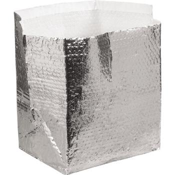 "W.B. Mason Co. Insulated Box Liners, 12"" x 10"" x 9"", Silver, 25/CT"