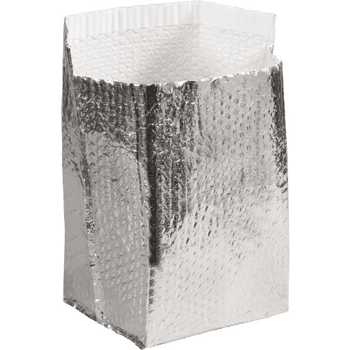"W.B. Mason Co. Insulated Box Liners, 6"" x 6"" x 6"", Silver, 25/CT"