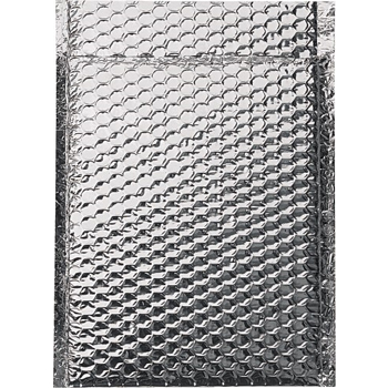 "Cool Shield Bubble Mailers, 8"" x 11"", Silver, 100/CS"