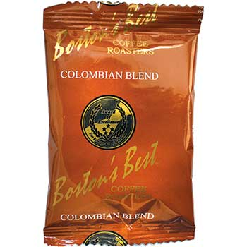 Boston's Best Coffee Roasters Pre-Measured Coffee Packs, Colombian Blend, 2.5 oz., 42/CS