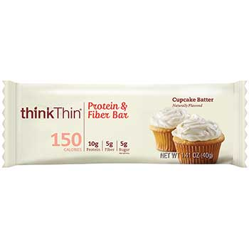 thinkThin® Cupcake Batter Bar, 1.4 oz., 10/BX