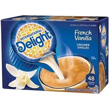 International Delight® French Vanilla Non Dairy Liquid Coffee Creamer, 0.4 oz., 48/BX