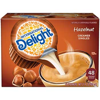 Hazelnut Liquid Coffee Creamer, 0.44 oz. Single-Serve Cups, 48/BX