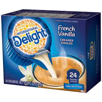 French Vanilla Liquid Coffee Creamer, 0.44 oz. Single-Serve Cups, 24/BX