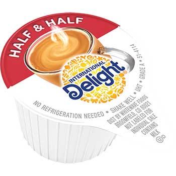 Half & Half Liquid Coffee Creamer, 0.3 oz. Single-Serve Cups, 180/CS
