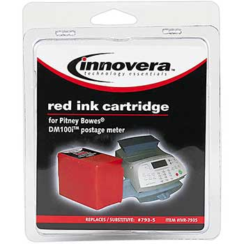 Compatible with 793-5 Postage Meter, 2700 Page-Yield, Red