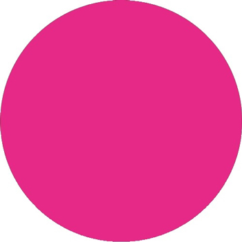 "Inventory Circle Labels, 2"", Fluorescent Pink, 500/RL"