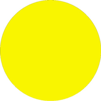 """Tape Logic® Inventory Circle Labels, 3"""", Fluorescent Yellow, 500/RL"""