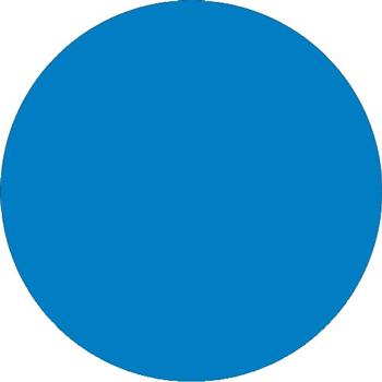 "Tape Logic® Inventory Circle Labels, 2"", Light Blue, 500/RL"
