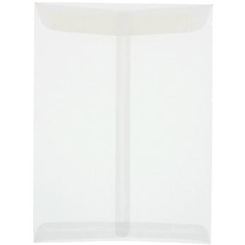 "10"" x 13"" Open End Catalog Translucent Vellum Envelopes, Clear, 100/PK"