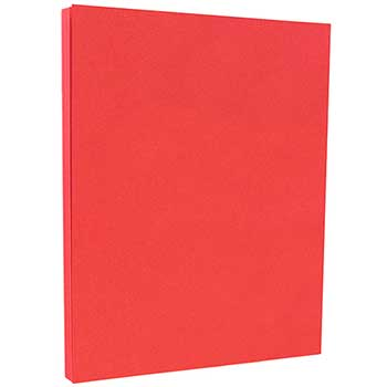 "Colored Cardstock, Letter Coverstock, 8 1/2"" x 11"", 65 lb., Red, Recycled, 250/PK"